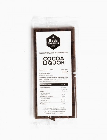 Cocoa liquor 100% bar