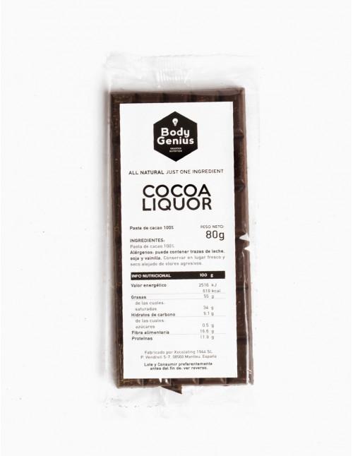 Cocoa liquor 100% bar