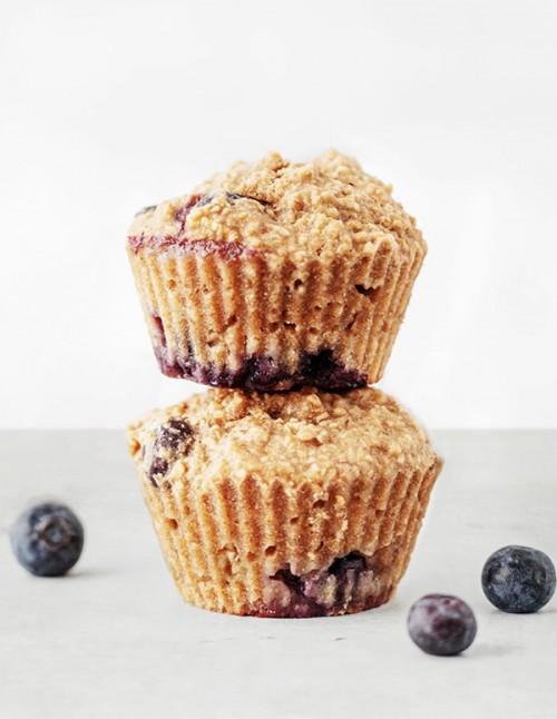 Muffins con harina de avena de sabores