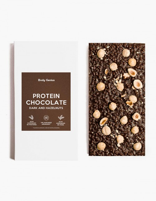 Tablette de chocolat noir protéiné...