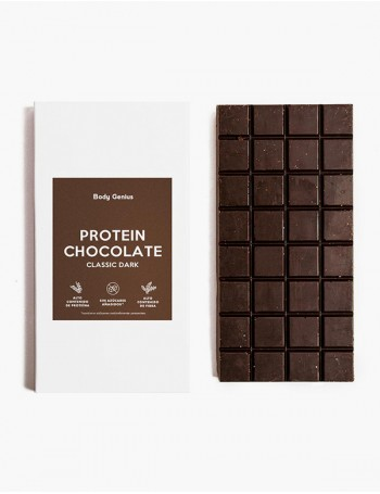 Dark high-protein chocolate