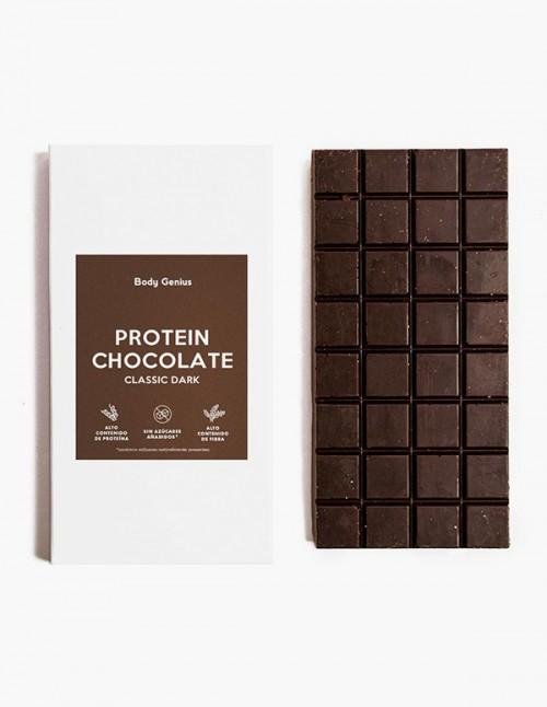 Chocolate negro proteico
