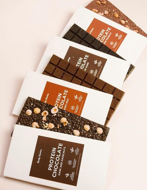 Pack de 4 chocolates proteicos