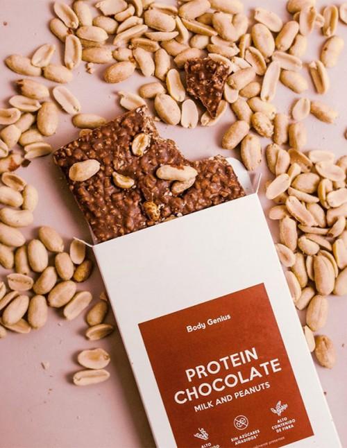 Tablette de chocolat protéiné aux...