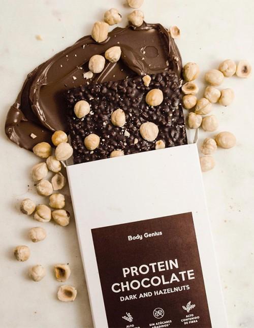 Protein Chocolate with Hazelnuts