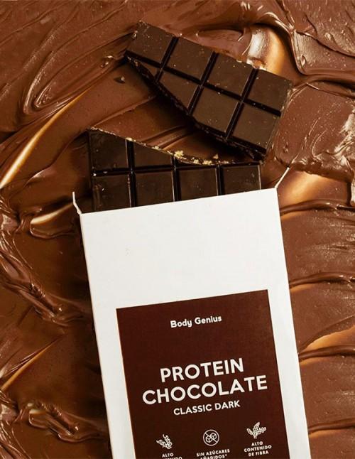 Dark high-protein chocolate