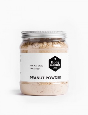Defatted peanut powder