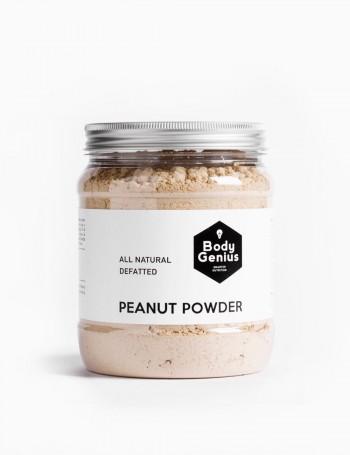 Defatted peanut powder