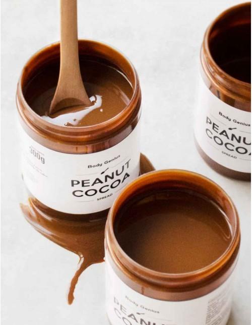 Trío de cremas de cacahuete y cacao