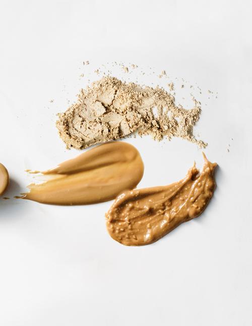 Trío de harina de cacahuete desgrasada