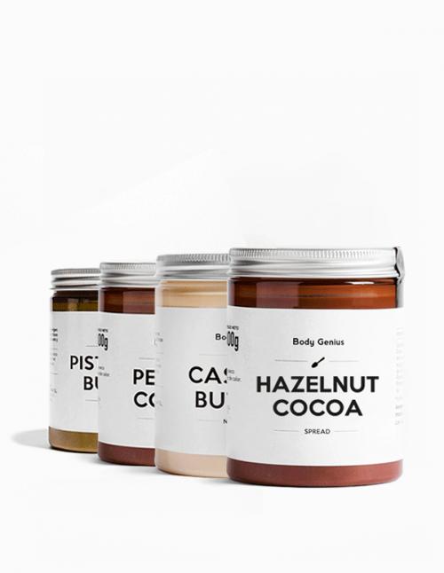 Cashew, pistachio, peanut cocoa and...